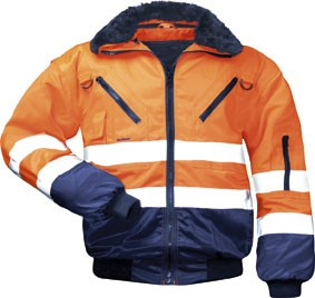 WARNSCHUTZ-PILOTENJACKE GR. L 23649 NORWAY ORANGE/MARINE 4in1