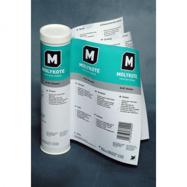 Molykote G 67, 400g, Hochdruckfett (z. B. für Getriebe), VE=10