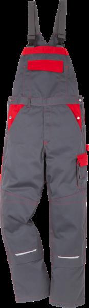 100806-866 FK Icon Two Latzhose, Grau/ Rot