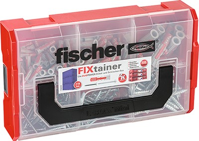 Fischer FIXtainer - DUOPOWER Dübel + Schraube (Set mit 210 Teilen), 535969