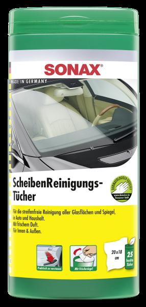 SONAX ScheibenReinigungsTücher 25 STÜCK, VE=6