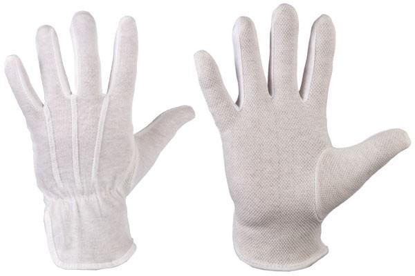 Baumwoll-Trikot-Handschuh weiß-G Gr.12, VE=12Paar