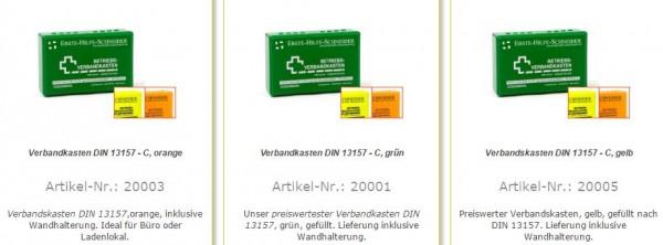 Verbandkasten Office DIN 13157-C 260x170x90mm