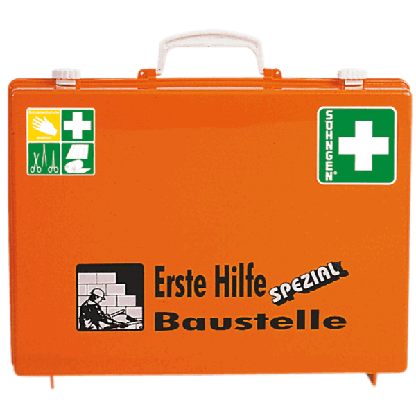 ERSTE-HILFE-KOFFER SPEZIAL 13157 ABS orange, BAUSTELLE